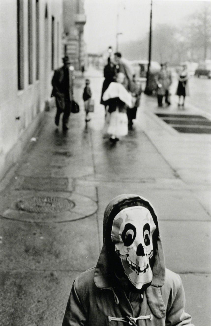 Frank Paulin Mask, New York City, 1956 Gelatin silver print 35.6 × 27.9 cm