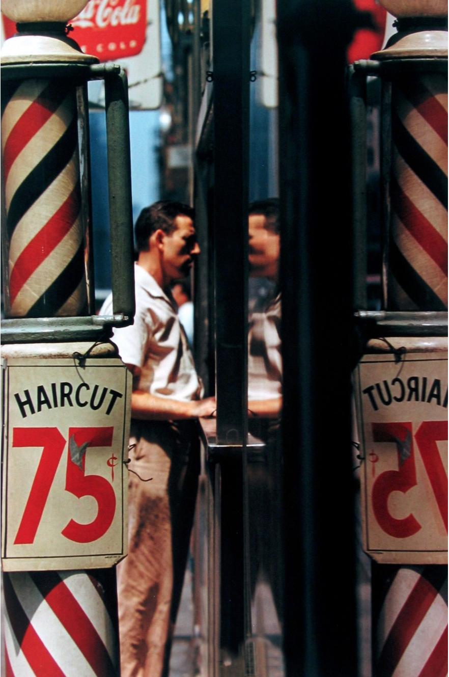 Saul Leiter Haircut 1956