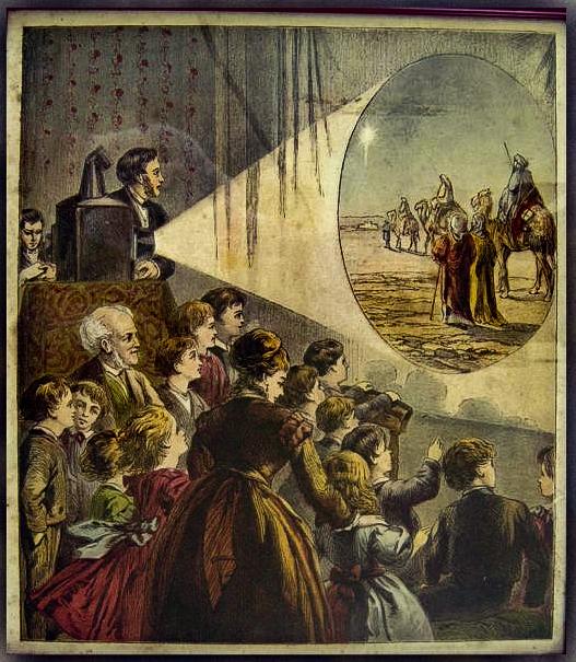 a magic lantern show. (Image credit- Bill Douglas, Cinema Museum:University of Exeter