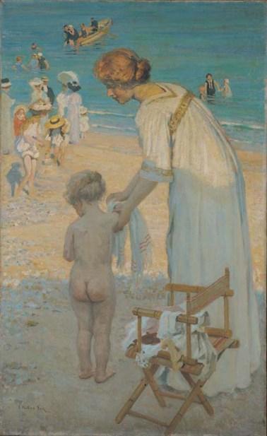 E Phillips Fox (c.1909) Bathing hour (L'heure du bain). Oil on canvas 183.5 x 113.3cm Purchased 1946, Queensland Art Gallery, Gallery of Modern Art